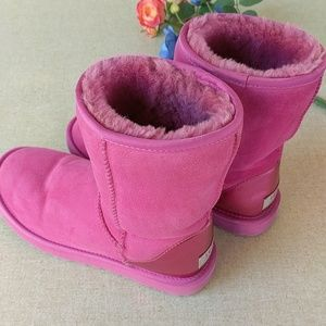 Ugg Boots 7 Pink Classic Patent Heel Uggs Shoes